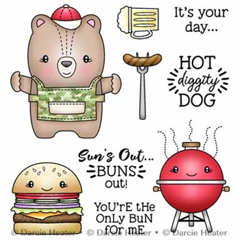 Darcie's HOT DIGGITY DOG Clear Stamp Set pol500