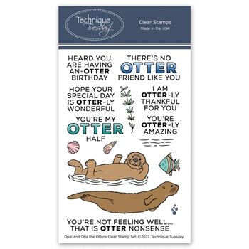 Technique Tuesday OPAL AND OTIS THE OTTERS Clear Stamp Set opalo