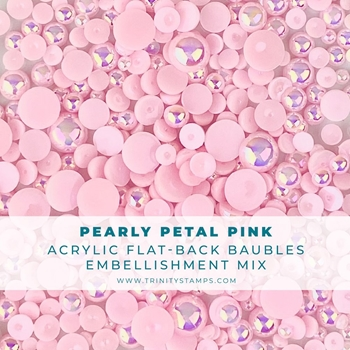 Trinity Stamps PEARLY PINK BAUBLES Embellishments Box tsb160