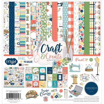 Carta Bella CRAFT AND CREATE 12 x 12 Collection Kit cbcr137016