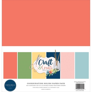 Carta Bella CRAFT AND CREATE 12 x 12 Solids Kit cbcr137015