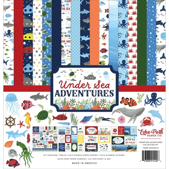 Echo Park UNDER SEA ADVENTURES 12 x 12 Collection Kit usa245016