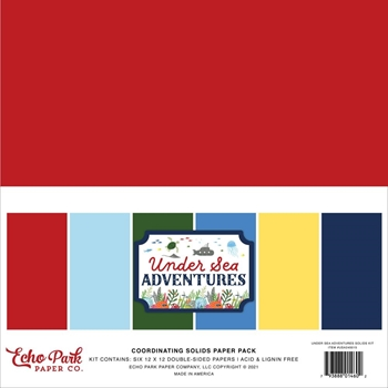 Echo Park UNDER SEA ADVENTURES 12 x 12 Solids Kit usa245015