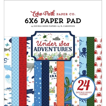 Echo Park UNDER SEA ADVENTURES 6 x 6 Paper Pad usa245023