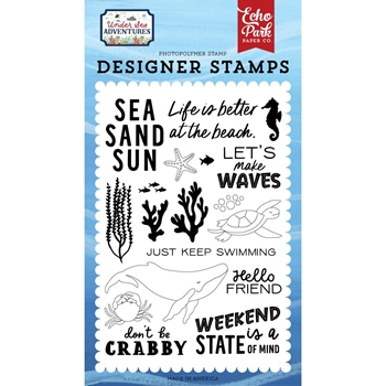 Echo Park MAKE WAVES Clear Stamps usa245040
