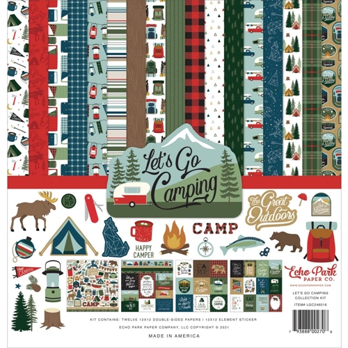 Echo Park LET'S GO CAMPING 12 x 12 Collection Kit lgc246016 Preview Image