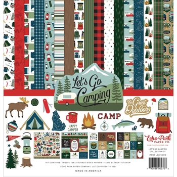 Echo Park LET'S GO CAMPING 12 x 12 Collection Kit lgc246016