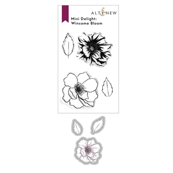 Altenew MINI DELIGHT WINDSOME BLOOM Clear Stamp and Die Bundle ALT6085