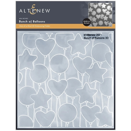 Altenew BUNCH OF BALLOONS 3D Embossing Folder ALT6124 Preview Image