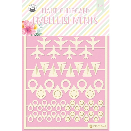 P13 SUMMER VIBES Die Cut Light Chipboard Elements P13 VIB 49 Preview Image