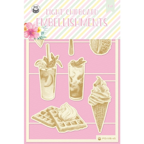 P13 SUMMER VIBES Die Cut Light Chipboard Elements P13 VIB 45 Preview Image