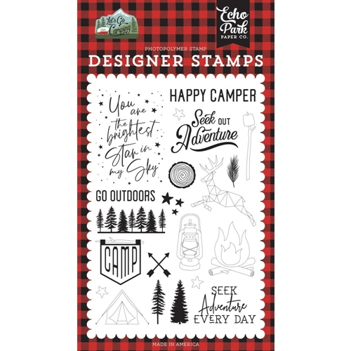 Echo Park SEEK OUT ADVENTURE Clear Stamps lgc246044 Preview Image