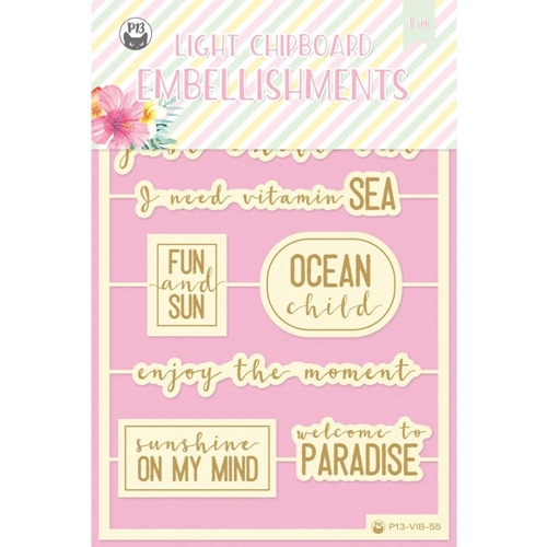 P13 SUMMER VIBES Die Cut Light Chipboard Elements P13 VIB 55 Preview Image