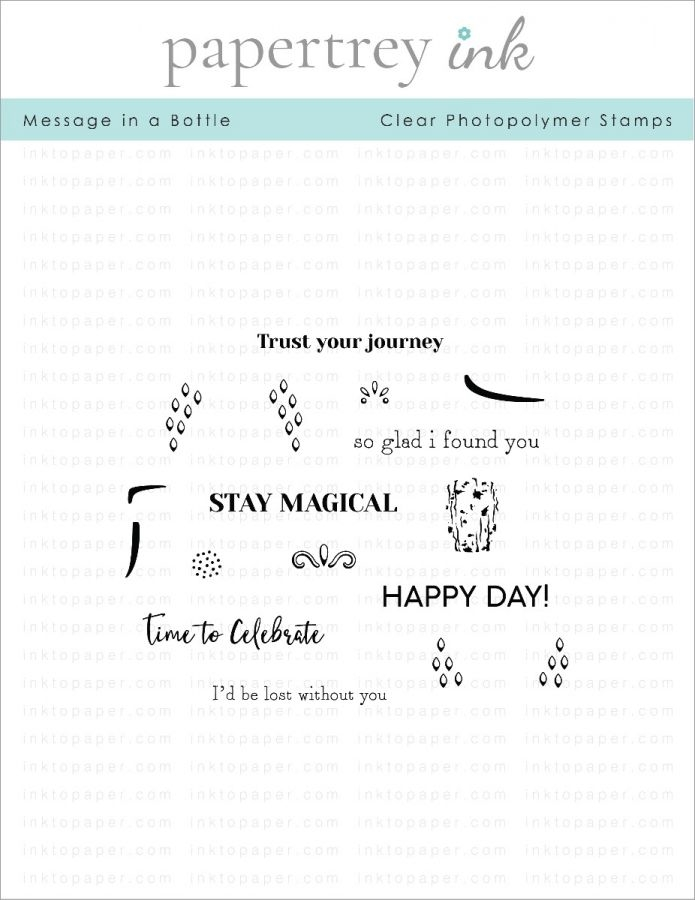 Papertrey Ink MESSAGE IN A BOTTLE Clear Stamps 1291 zoom image