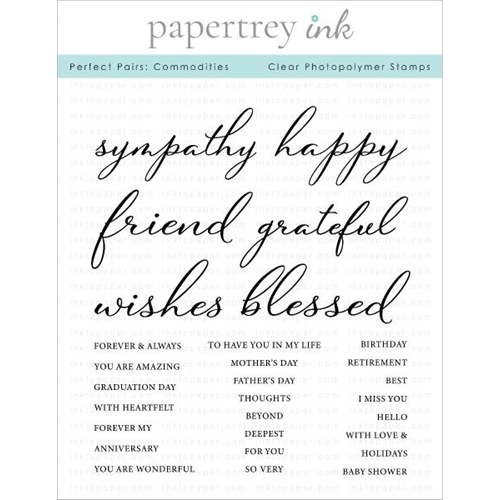 Papertrey Ink PERFECT PAIRS COMMODITIES Clear Stamps 1289 Preview Image