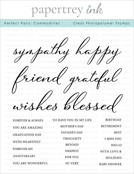 Papertrey Ink PERFECT PAIRS COMMODITIES Clear Stamps 1289 zoom image