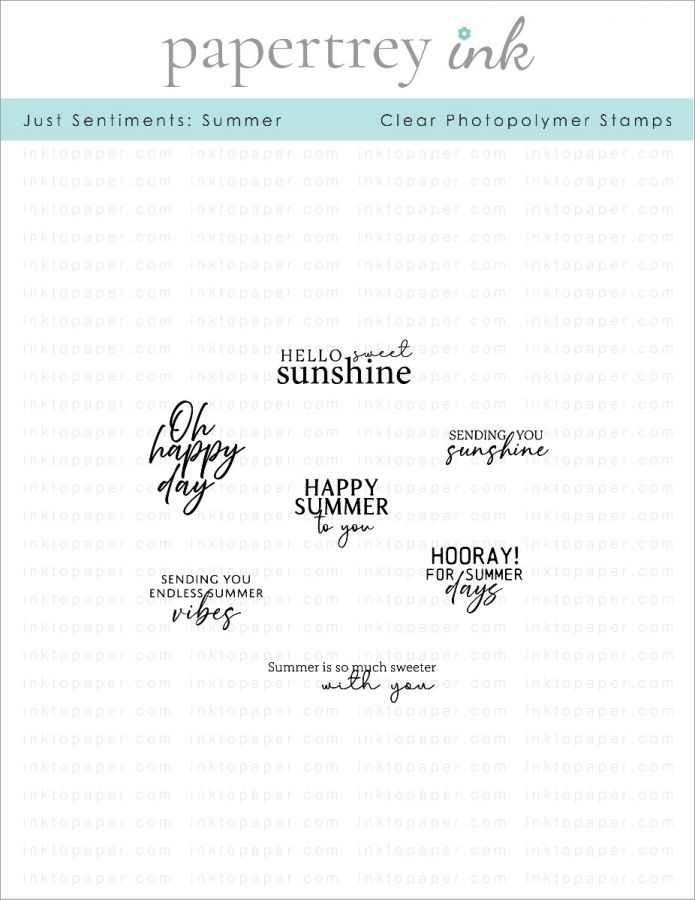 Papertrey Ink Just Sentiments SUMMER Clear Stamps 1285 zoom image