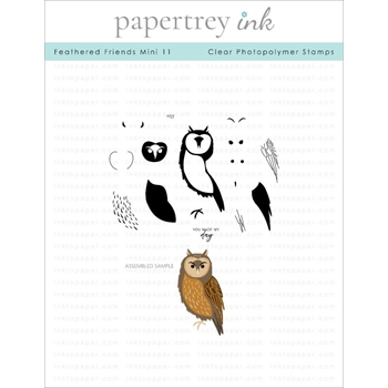 Papertrey Ink FEATHERED FRIENDS MINI 11 Clear Stamps 1286