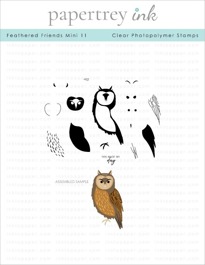 Ink to Paper FEATHERED FRIENDS MINI 11 Clear Stamps 1286 zoom image