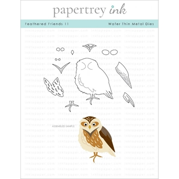 Papertrey Ink FEATHERED FRIENDS 11 Dies ITP284