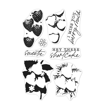 Hero Arts Clear Stamps COLOR LAYERING STRAWBERRY CM539