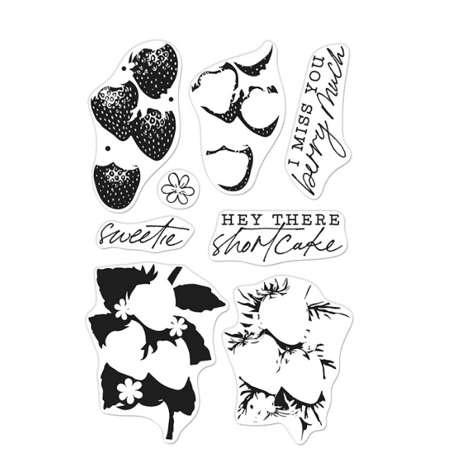 Hero Arts Clear Stamps COLOR LAYERING STRAWBERRY CM539 zoom image
