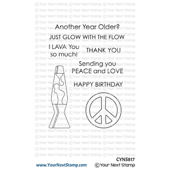 Your Next Stamp GLOW WITH THE FLOW Clear cyns817