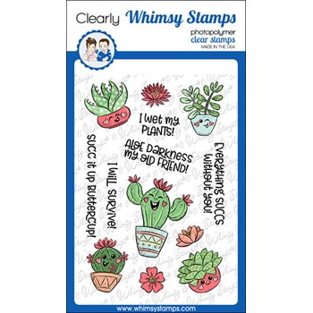 Whimsy Stamps SUCC IT UP Clear Stamps KHB130a