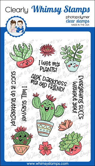 Whimsy Stamps SUCC IT UP Clear Stamps KHB130a zoom image