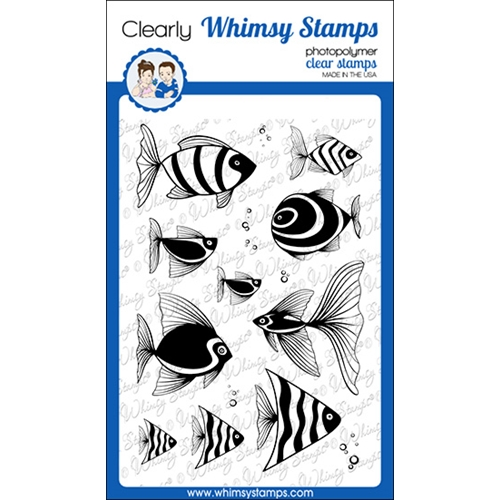 Whimsy Stamps FISH FANCY Clear Stamps CWSD269a Preview Image
