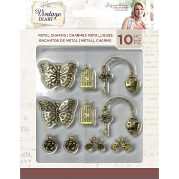 Crafter's Companion VINTAGE DIARY Metal Charms svdcharm