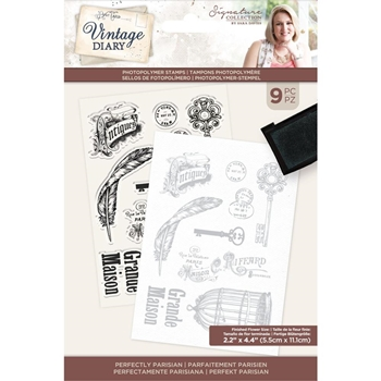 Crafter's Companion VINTAGE DIARY PERFECTLY PARISIAN Clear Stamps svdstpperpa