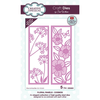 Creative Expressions FLORAL PANELS COSMOS Sue Wilson Dies ced2051