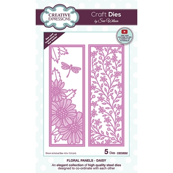 Creative Expressions FLORAL PANELS DAISY Sue Wilson Dies ced2052