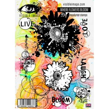 Visible Image WHERE FLOWERS BLOOM Clear Stamp Set VIS WFB 01