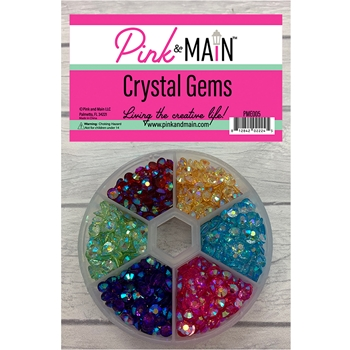 Pink and Main CRYSTAL GEMS Embellishments PME005