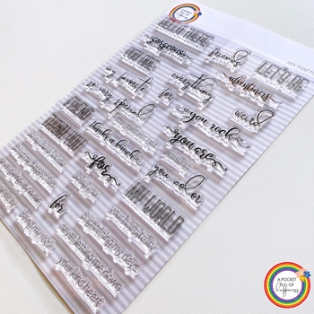 A Pocket Full of Happiness MIX THAT FONT Clear Stamp Set apfh03