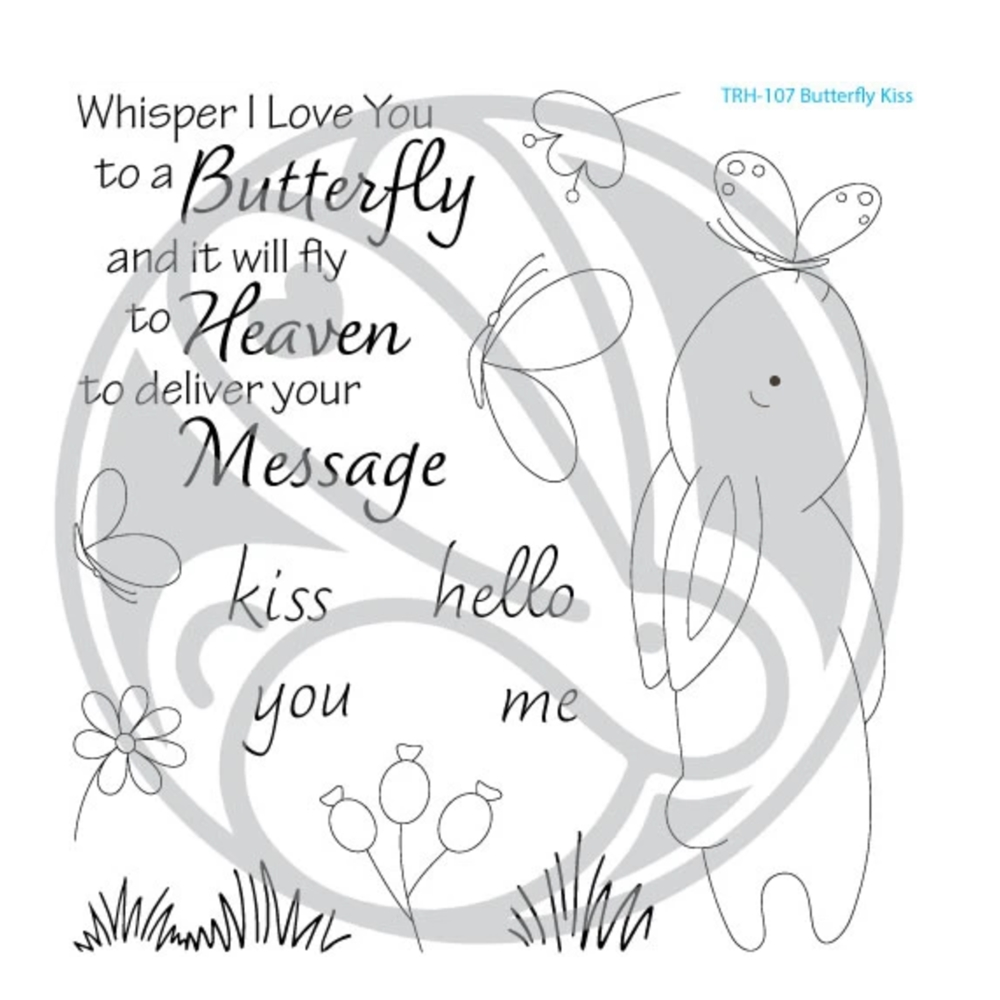 The Rabbit Hole Designs BUTTERFLY KISS Clear Stamps TRH 107 zoom image