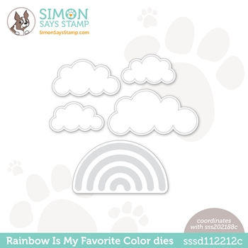 Simon Says Stamp RAINBOW IS MY FAVORITE COLOR Wafer Dies sssd112212c