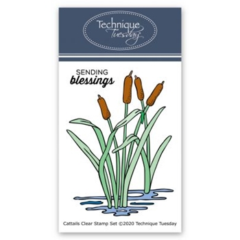 Technique Tuesday CATTAILS Clear Stamp Set gscat2