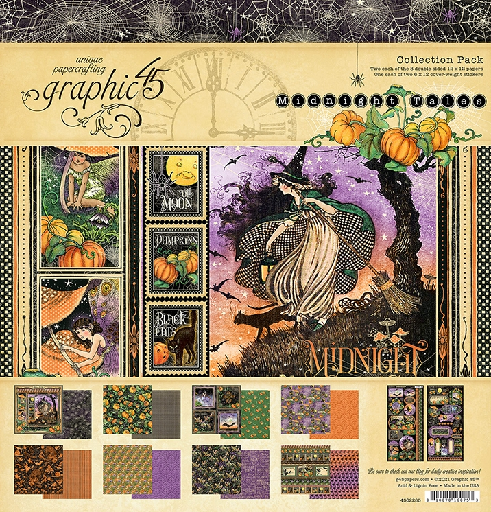 Graphic 45 MIDNIGHT TALES 12 x 12 Paper Pad 4502283 zoom image