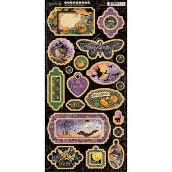 Graphic 45 MIDNIGHT TALES Chipboard 4502285