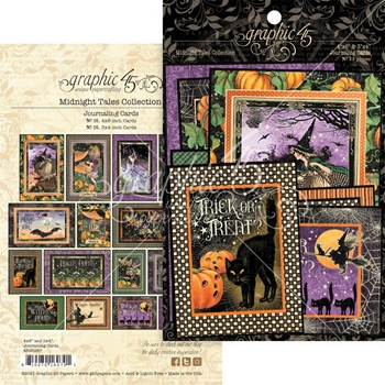 Graphic 45 MIDNIGHT TALES Journaling And Ephemera Cards 4502287