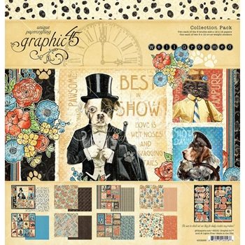 Graphic 45 WELL GROOMED 12 x 12 Paper Pad 4502266