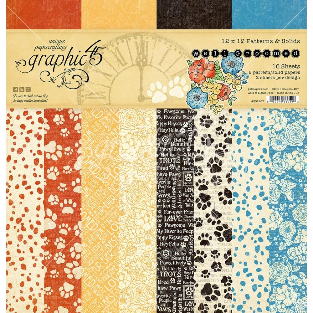 Graphic 45 WELL GROOMED 12 x 12 Patterns And Solids Paper Pad 4502267 zoom image
