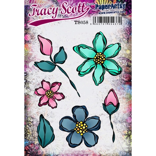 Paper Artsy TRACY SCOTT 58 Cling Stamp ts058 Preview Image