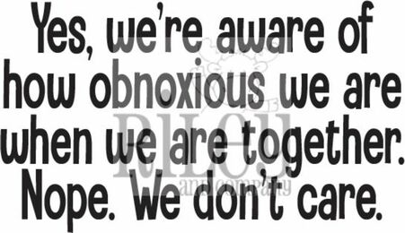 Riley And Company Funny Bones WE ARE OBNOXIOUS Cling Rubber Stamp RWD 925 Preview Image