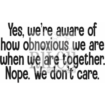 Riley And Company Funny Bones WE ARE OBNOXIOUS Cling Rubber Stamp RWD 925
