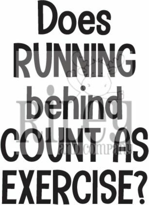 Riley And Company Funny Bones RUNNING BEHIND Cling Rubber Stamp RWD 924 Preview Image