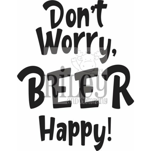 Riley And Company Funny Bones DON'T WORRY BEER HAPPY Cling Rubber Stamp RWD 908 Preview Image